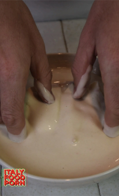 hamburger in pastella