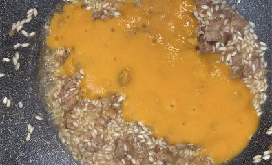 salsiccia e crema di zucca